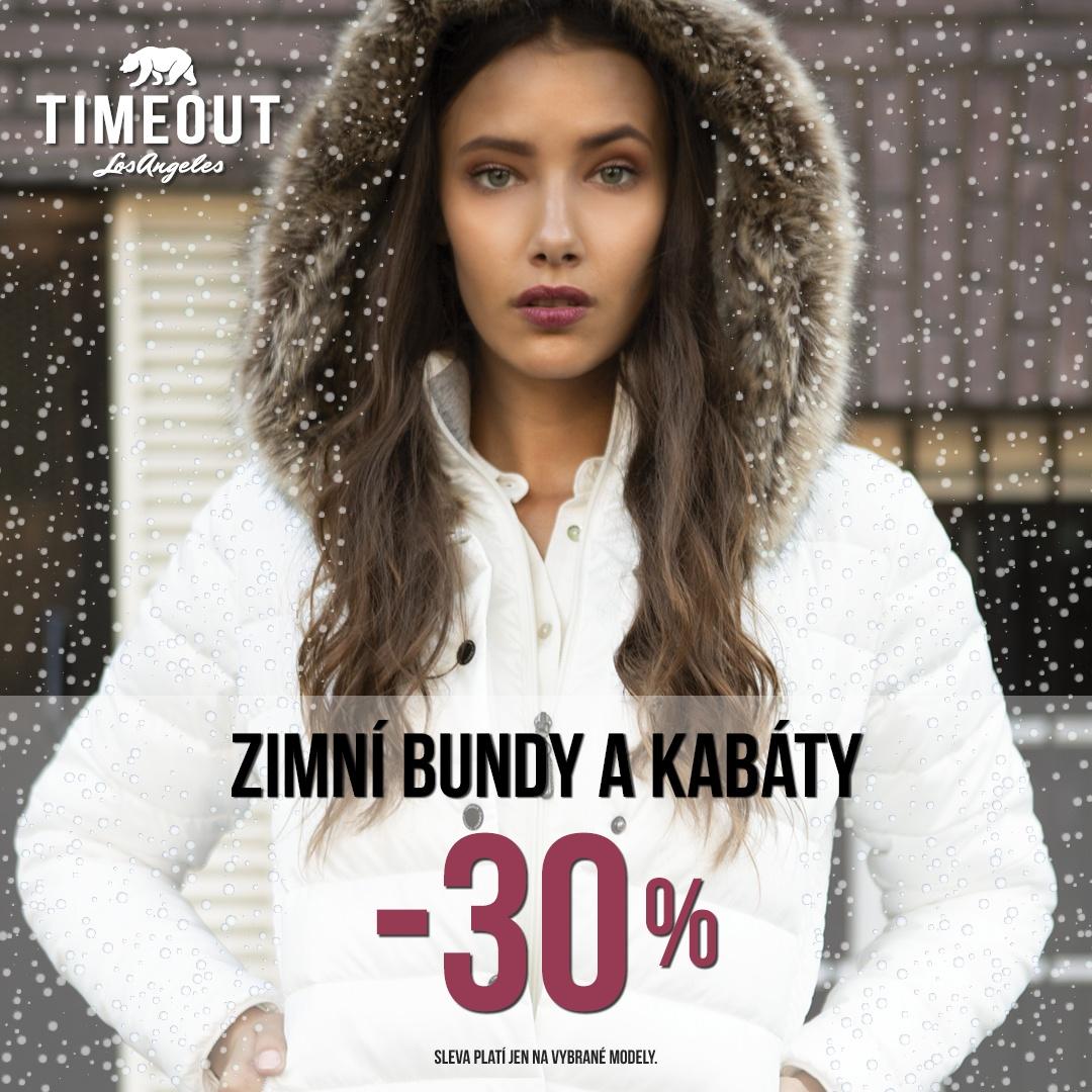 SLEVA v TIMEOUT na zimní bundy a kabáty -30%! f44d1e5c63