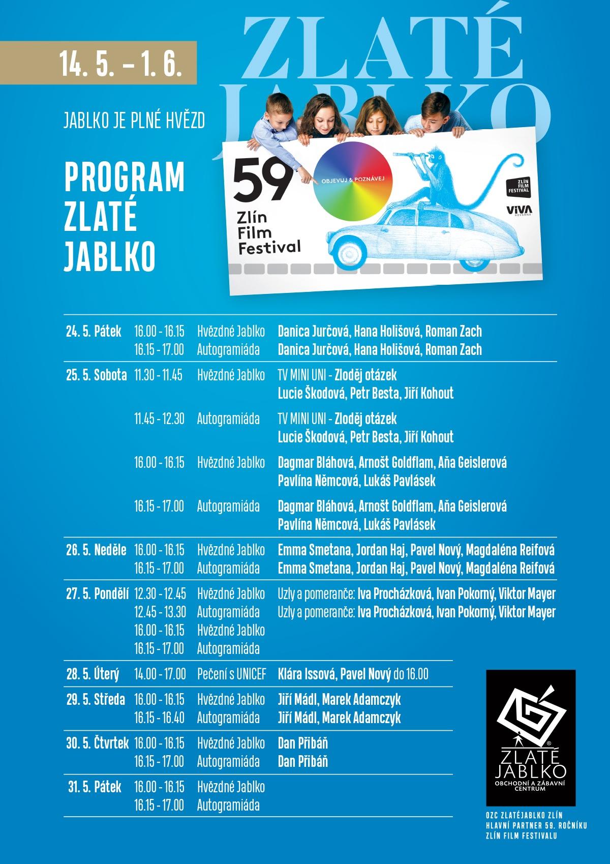 1ed2200d7 59. Zlín Film Festival a doprovodný program ve Zlatém jablku